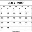 July 2018 Calendar