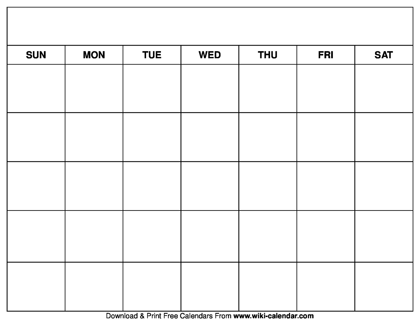 graphic about Free Printable Blank Calendars named Printable Blank Calendar Templates