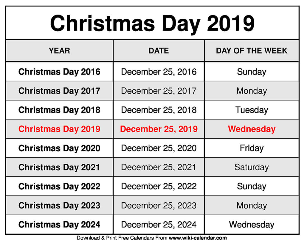 Christmas 2019 Calendar.Free Printable December 2019 Calendar