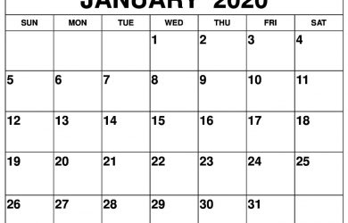 Download and print calendars for 2020 - Wiki Calendar