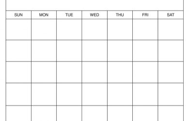 Printable Blank Calendar Templates 1
