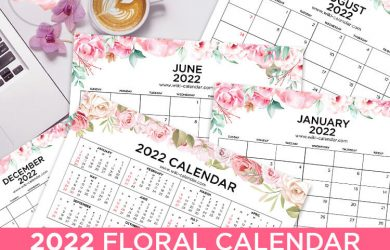 Floral Calendar 2022 Landscape